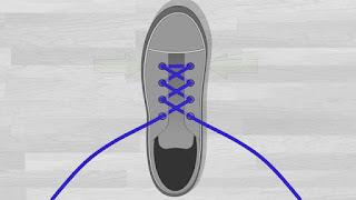 Cara Memasang Tali Sepatu Menyilang tutorial 4