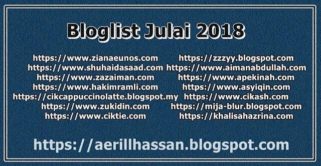 Bloglist Julai 2018