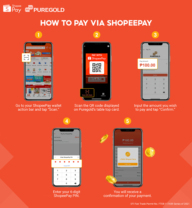 Steps to follow to pay for your groceries at Puregold using ShopeePay