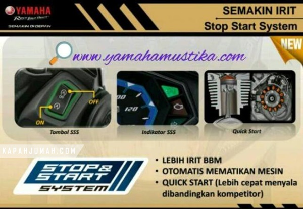 Yamaha Mio 125 dengan Stop Start System SSS