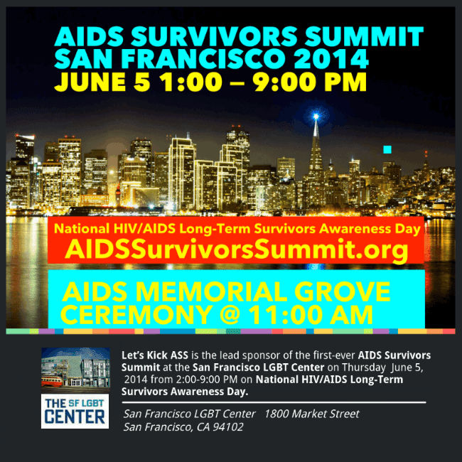 AIDS Survivor Conference will be held in San Francisco on June 5th 2014
