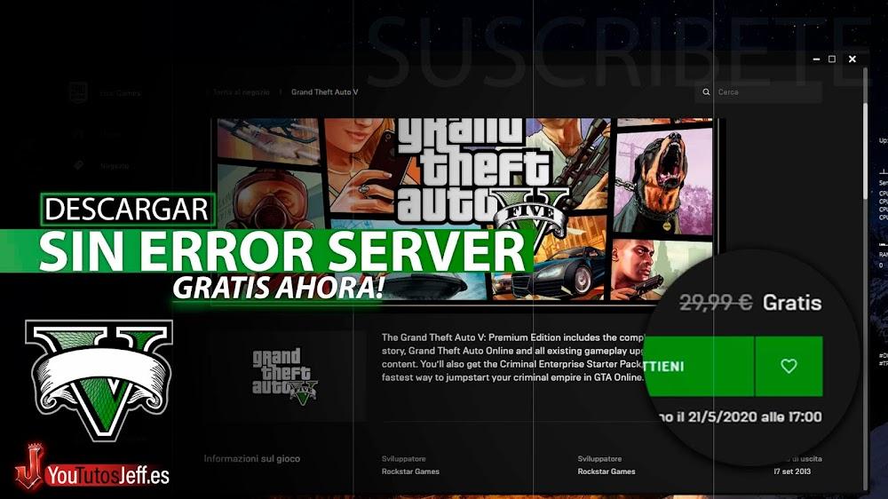 Como Descargar GTA V ONLINE Gratis SIN ERROR DE SERVIDOR, Aprovecha Ahora