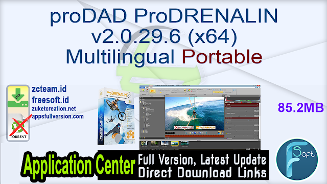 proDAD ProDRENALIN v2.0.29.6 (x64) Multilingual Portable