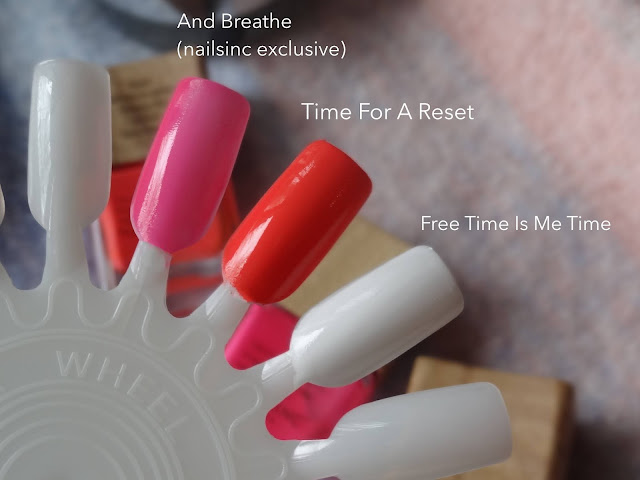 Nails Inc. Plant Power Nail Polish And Breathe, Free Time Is Me Time, Time For A Reset Review, Photos, Swatches