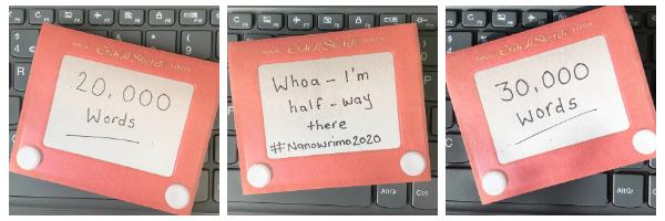 Nanowrimo 2020 milestones