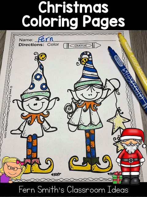 Seventy-Five Christmas Coloring Pages to add some joy and fun to your classroom this holiday season! Your Students will ADORE these Coloring Book Pages for Christmas, add it to your plans to compliment any Christmas activity! Seventy-Five {75} Coloring Pages For Some Christmas Fun in Your Classroom from Fern Smith's Classroom Ideas!