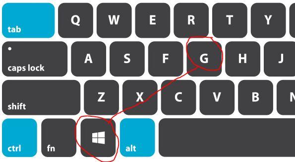 Tekan tombol Windows logo+G