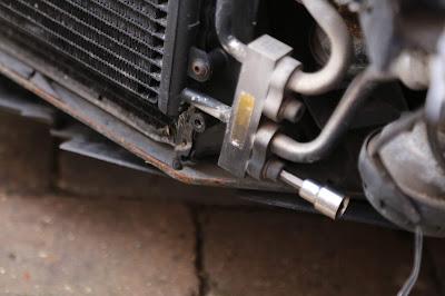 Porsche 911 996 air conditioning condenser removal - 6mm allen key