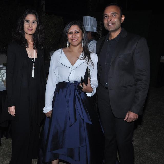 Designer Monisha Bajaj, Ruchira Bose and Anil Lepps