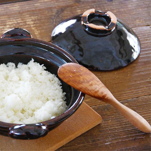 宮島工芸製作所 丸柄ナナメ杓子 天然桜木 木製しゃもじ
