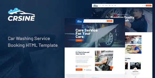 Best Car Washing Service Booking HTML Template