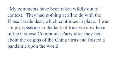 Administração Trump China-Hater retrocede comentários negativos sobre acordo comercial 3