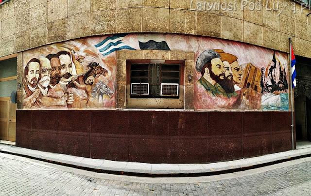 Socjalistyczny mural w Hawanie