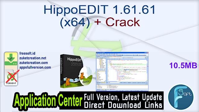 HippoEDIT 1.61.61 (x64) + Crack