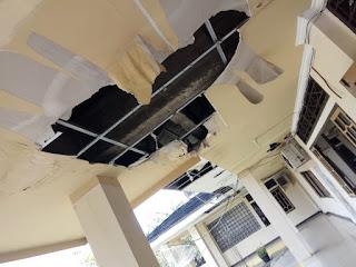 Atap Bocor Plapon Runtuh, Rehab Kantor Bupati Tunggu 2021
