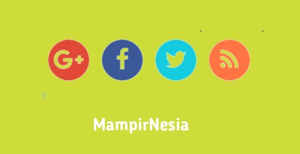 Cara Mudah Buat Widget Sosial Media Di Blog | Style 5