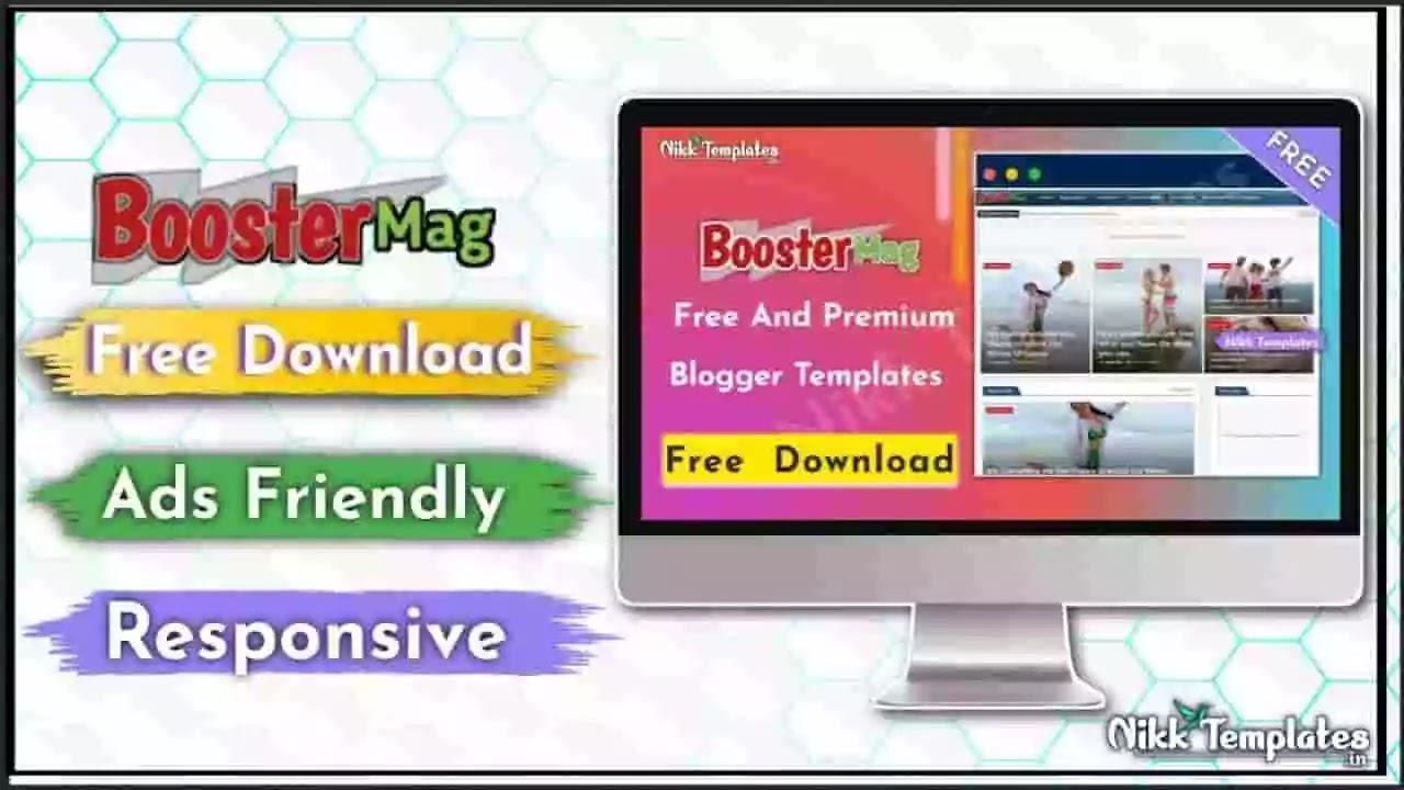 Booster Mag - Blog & Magazine Blogger Template - Nikk Templates