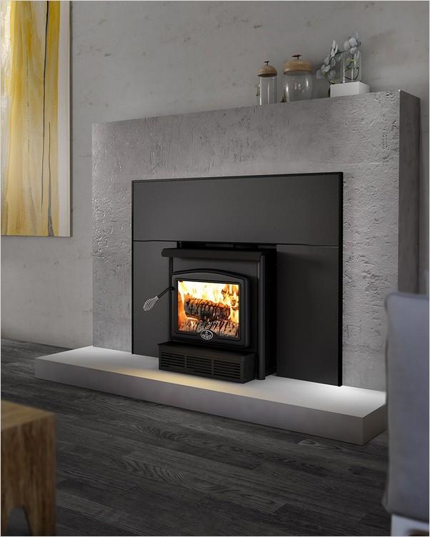 Wood Stove Insert Home Interior Exterior Decor Design Ideas