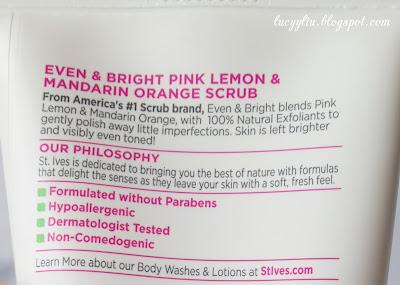 St. Ives Pink Lemon & Mandarin Orange Scrub review