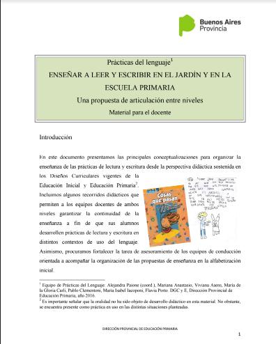 Material para docentes