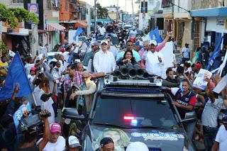 José Montás agradece respaldo recibido en marcha caravana de cierre de campaña en San Cristóbal