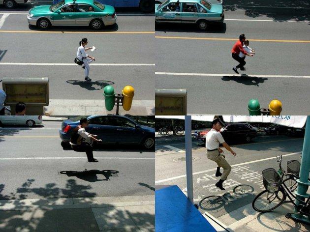wow Keren, Fotografi Sepeda Tak Kasat Mata seperti terbang di Udara