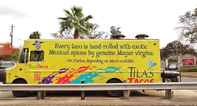 Tila's Yellow Taco Truck - S Shepherd Dr, Houston, TX