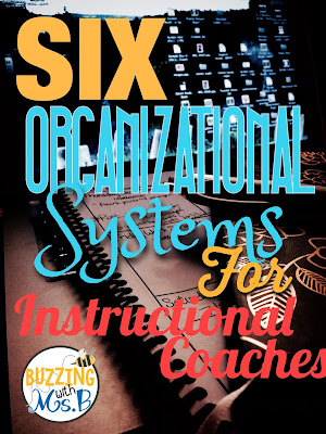 These simple systems help instructional coaches with organization! Keep track of teacher documentation, organize your schedule and calendar, record all of your ongoing learning in one spot, and more! These strategies will help you organize and simplify your coaching life! Perfect for new instructional coaches. #instructionalcoach #instructionalcoachingorganization