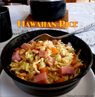 Hawaiian Rice, quick, versatile flavorful, throw this recipe together for lunch, dinner, or a side dish. | Recipe developed by www.BakingInATornado.com | #recipe