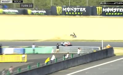 Detik-detik Rossi Jatuh di MotoGP Jepang
