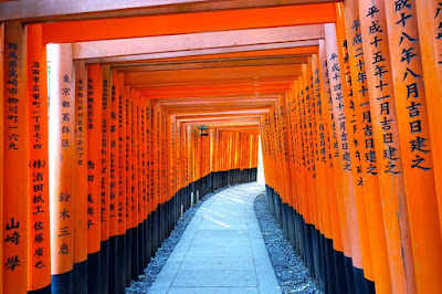 The 10,000 torii at Fushimi Inari in Kyoto