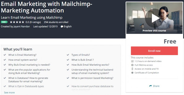 [100% Free] Email Marketing with Mailchimp- Marketing Automation
