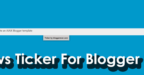 Add recent post news ticker for Blogger - trendy