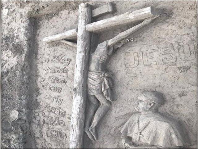 patung kristus dari pasir