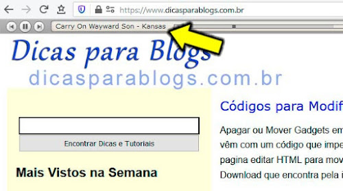 tutorial para colocar musica ou playlist no blog