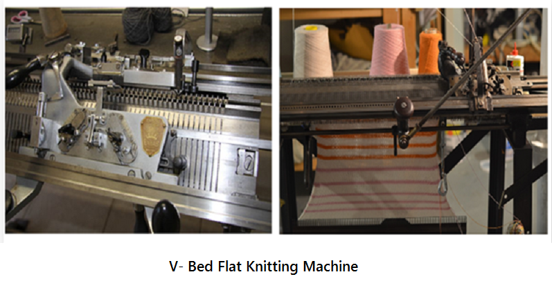 flat knitting machine v-bed