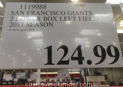 Save 28% on 2 Giants tickets at Costco