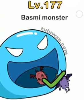 membasmi monster brain out dengan mulut raksasa