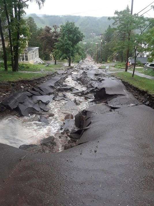 Agate Falls—the new name for Agate Street after the flash flooding on Father's Day 2018