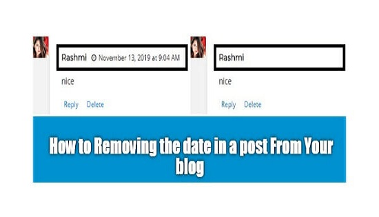How to remove the date from blogger post comments