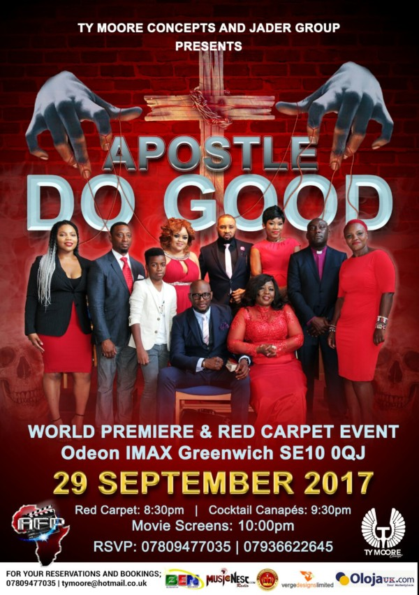 Fri/29/Sept: The London Premiere of TY Moore's APOSTLE DO GOOD @ Odeon Greenwich
