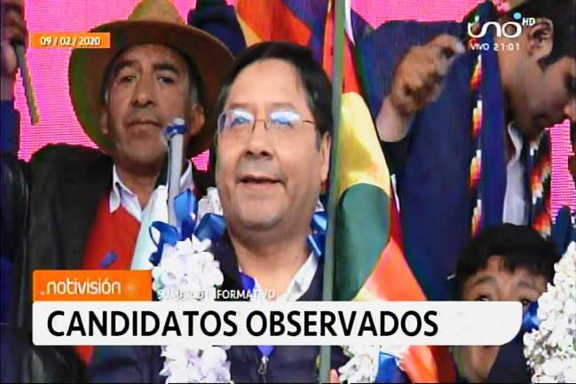 TSE presenta lista de candidatos observados: Arce, Pumari, Morales y Cossío figuran en ese cuadro