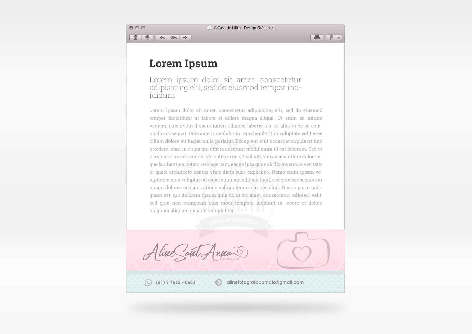 Identidade Visual para Fotógrafa - Newborn e Gestantes: Logotipo, Assinatura de Email, Cartão de Visita e Papel Timbrado