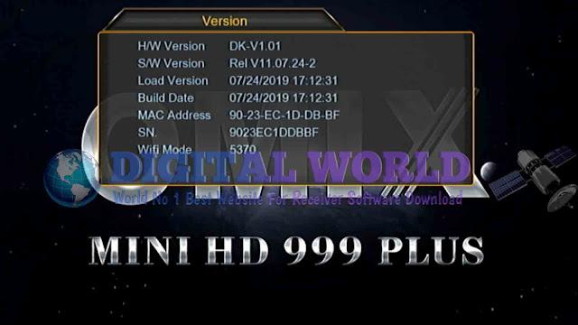 OMIX MINI HD 999 PLUS RECEIVER 1507G-1G-8M-SEB3-STG3 UPDATE NEW SOFTWARE
