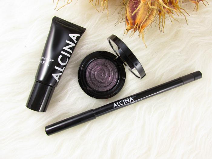 ALCINA Absolutely Fabulous Limited Edition & Gewinnspiel - Longwear Eye Base Crazy Eye Shadow in Prune Mystic Kajal Liner in wood
