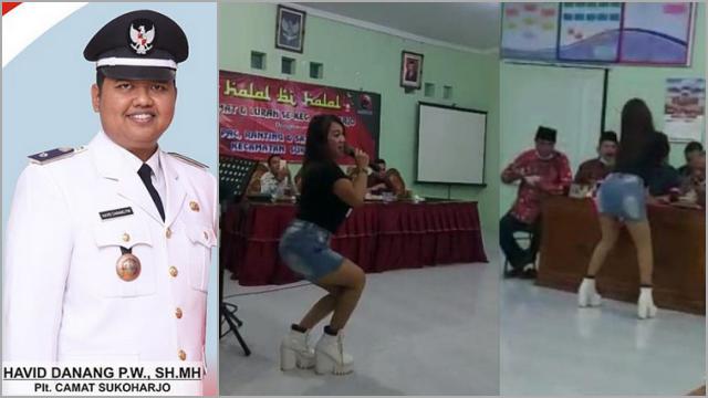 Buntut Halal Bihalal PAC PDIP Dihibur Biduan, Camat Sukoharjo Dicopot