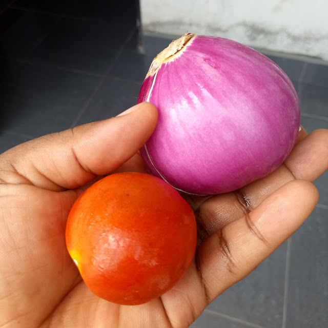 tomatoe , onion for cooking african food