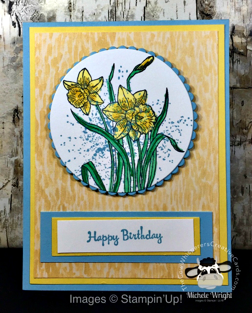Card, You're Inspired, Touches of Textures, Birthday, Garden Impressions