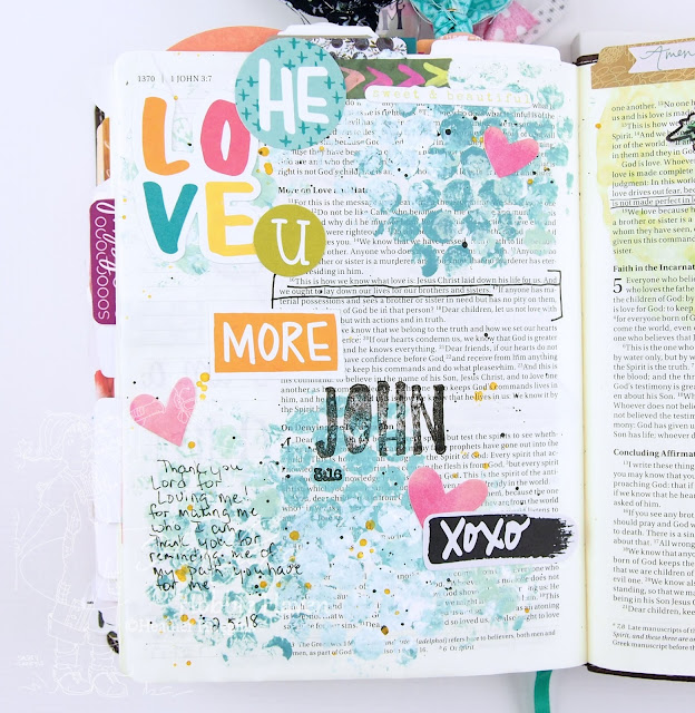 Heather's Hobbie Haven - Illustrated Faith This is Love Devotional - 1 John 3:16