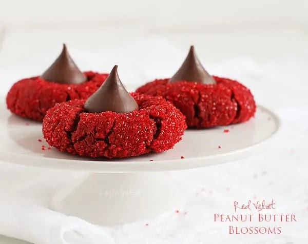 Red Velvet Kiss Cookies, the perfect holiday cookie!
